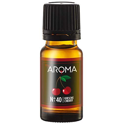 myAROMA   No. 40 (Kirsche, 10 ml)   Rein natürliches Aroma   Geschmackstropfen zum Kochen, Backen & Mixen   ohne Süßung