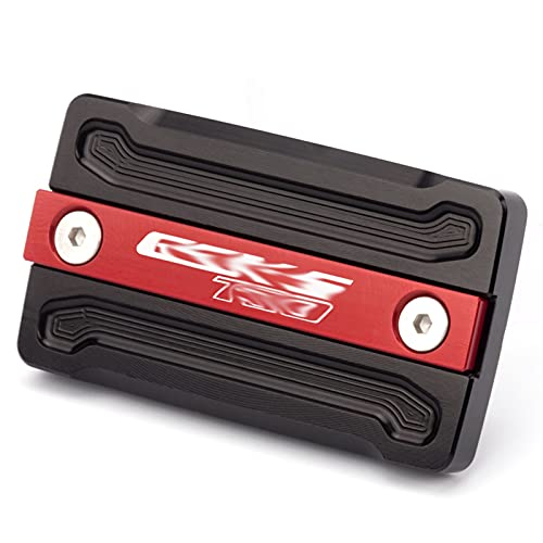 BGGSN Cubierta de la Tapa del embalse del líquido del Freno Delantero/Ajuste para Suzuki GSX-S750 GSXS750 GSX-S GSX S GSXS 750 AÑO AÑO Accesorios DE Scooter (Color : GSX S750 Logo Red)