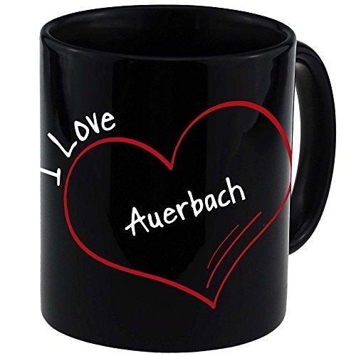 Tasse Modern I Love Auerbach schwarz