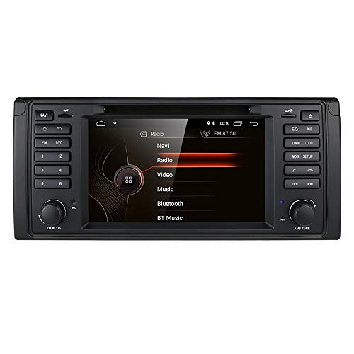 hizpo Android 10 7 Zoll 1 Din Autoradio GPS Navi DVD Player Passend für BMW 5er E39 BMW X5 E53 M5 7er E38 Unterstützt Bluetooth DSP Musik Radio Lenkradsteuerung WiFi 4G