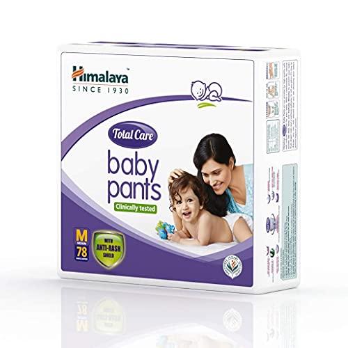 Himalaya Total Care Baby Pants Diapers, Medium (7 - 12 kg), 78 Count
