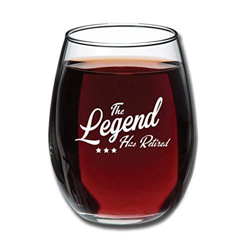 O5KFD&8 Good Handheld Die Legende ist in den Ruhestand gehangen Weinglaswaren Upgrade Gravur - Personalidad Halloween Decoración Blanco 350 ml