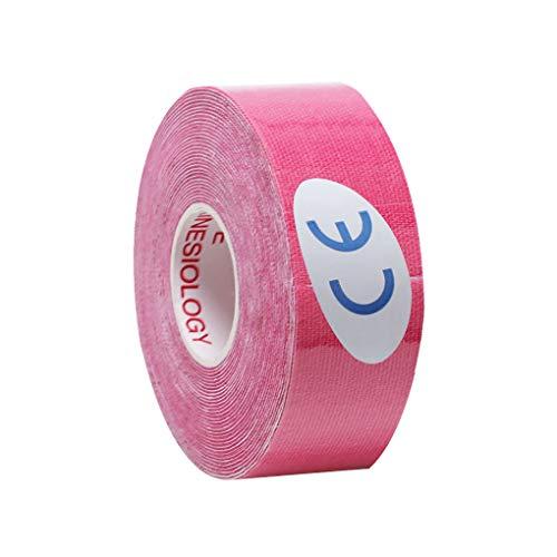 kongnijiwa Elástica Muscular Cinta de Soporte Deportes Esparadrapo Gym Fitness Muscular del músculo Vendaje de la Correa, 2.5cmx5m Rosa