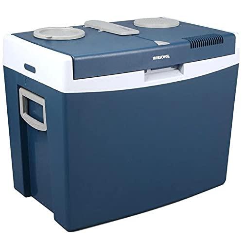Nevera termoeléctrica portátil 35 L 12V Mini Refrigerador de Coche con Mango para Camping, Viajes, Picnic, Azul,12V