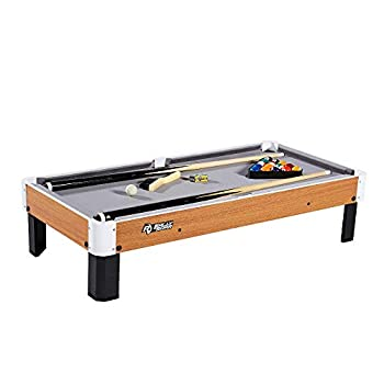 """Rally and Roar Tabletop Pool Table Set and Accessories 40"""" x 20"""" x 9"""" - Mini Travel-Size Billiard Tables Balls Cues and Rack - Fun Portable Family Games for Family Parties Camping Road Trips"""