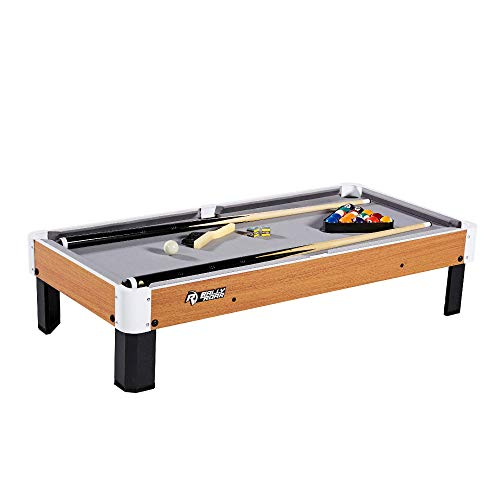 "Rally and Roar Tabletop Pool Table Set and Accessories, 40"" x 20""..."