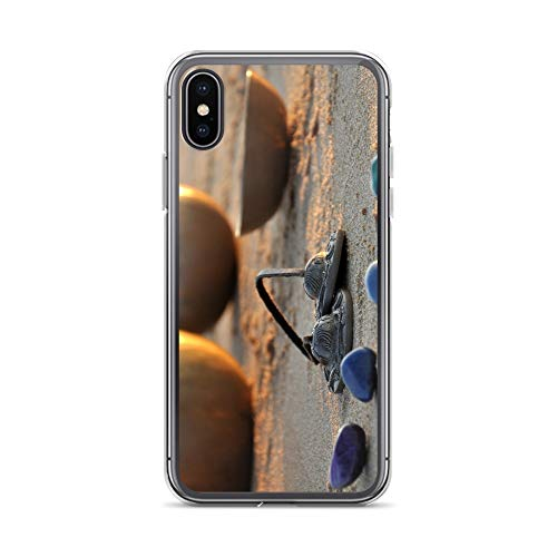 iPhone 7 Plus/8 Plus Case Anti-Scratch Motion Picture Transparent Cases Cover Singing Bowls On The Beach Movies Video Film Crystal Clear
