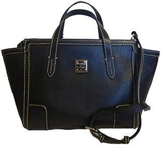 Dooney & Bourke Small Shopper Black Leather Satchel Handbag w/Strap