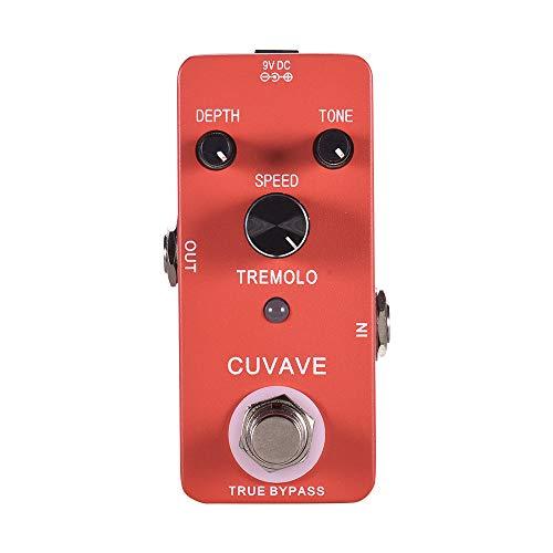 Muslady Tremolo Pedale per chitarra CUVAVE TREMOLO Classico Shell in lega di zinco True Bypass