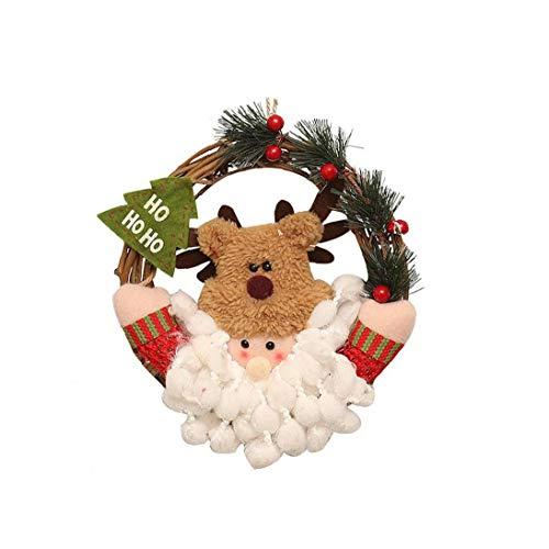 asdfwe Regalos del Árbol De Navidad De Santa Claus Navidad Colgante Colgante del Árbol De Navidad del Arte De La Decoración De Navidad La Fiesta En Casa Adornos De Navidad Adornos S