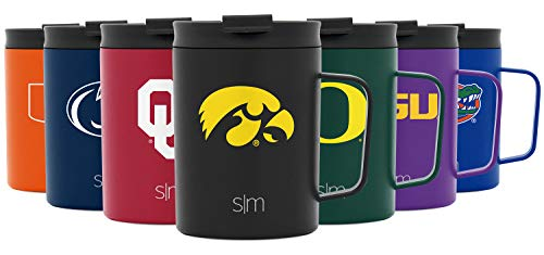 Simple Modern NCAA Iowa Hawkeyes 12oz Coffee Mug Insulated Travel Stainless Steel Scout, CF-12-U