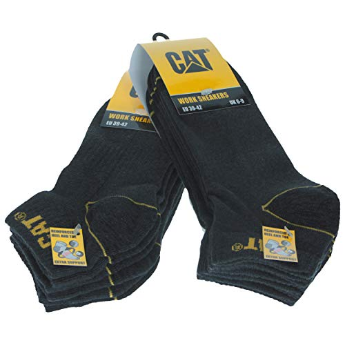 CAT Caterpillar Herren Universal/Arbeit kurze Socken In verschiedenen Größen und Farben erhältlich (Grau, 3942)