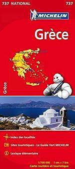 Carte NATIONAL Grce de Collectif Michelin