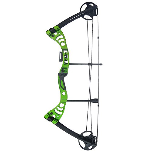 iGlow 30-55 lbs Green Archery Hunting Compound Bow 175 150 70 55 40 30 lb Crossbow