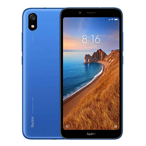 Xiaomi Redmi 7A, Smartphone 2GB 32GB 5.45' HD Snapdragon 439 Octa Core Mobile Phone 4000mAh 13MP Camera, Wi-Fi 802.11 bgn Bluetooth 4.2, Android, Azul