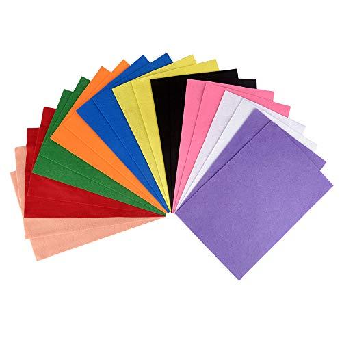 ewtshop® Bastelfilz, 20 Blatt im Format 30 x 20 cm, Filzplatten in 10 Bastelarbeiten, DIY und Nähen