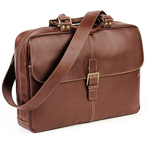 Boconi Bryant Laptop Analyst Bag (Antiqued Mahogany with Houndstooth)