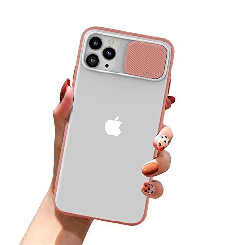 Tybiky Protector de cámara para iPhone SE 2020, funda para iPhone 7/8, funda de silicona para iPhone 8/7/SE 2020, mate, translúcida, antiarañazos, color rosa