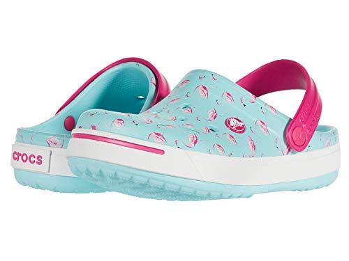 Crocs Kids Crocband II Graphic Clog (Toddler/Little Kid) Ice Blue/Candy Pink 1 Little Kid M