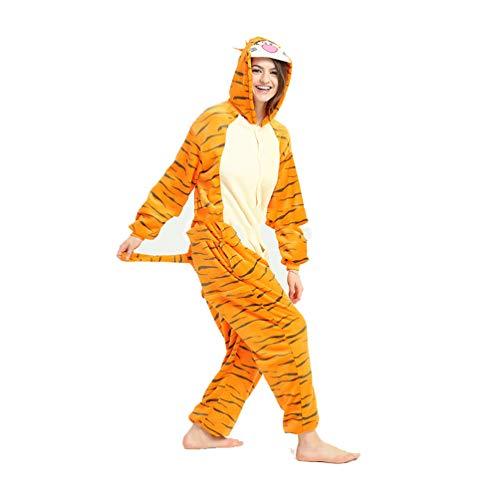 MIOLOE Unisex Erwachsene Tieroutfit Pyjamas Faschingskostüm Damen Schlafanzug Cosplay Kostüme Jumpsuit Tierkostüme Halloween Karneval Kostüme Pyjama-Party
