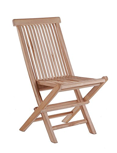 Dynamic24 SAM 2er Spar-Set Klappstühle Menorca, Teak-Holz, Gartenstuhl klappbar, für Balkon, Terrasse oder Garten