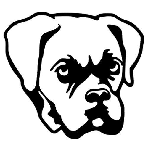 Empty 3 Stück Auto Aufkleber und Abziehbilder 11.4 * 10.3CM Boxer Dog Wasserdichtes, reflektierendes Abziehbild für Stoßstangenfenster Laptop Motorrad Fahrradgepäck Graffiti Patches