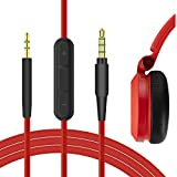Geekria QuickFit Cable de Audio para Auriculares JBL E40BT E45BT E50BT E55BT E30 E35 650BTNC 600BTNC, Cable de Repuesto, Replacement Stereo Cord (con micrófono-1.7m)