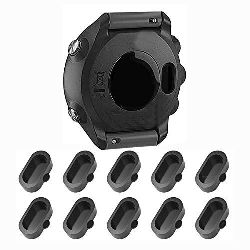 Charger Port Protector, Ancable 10-Pack Silicone Dust Plug Anti-dust Plugs Compatible with Garmin Fenix 5/5S/5X Plus/6S 6 6X, Garmin Vivoactive 3/Vivosport/Forerunner 935/45/45S/245/945 Smartwatch