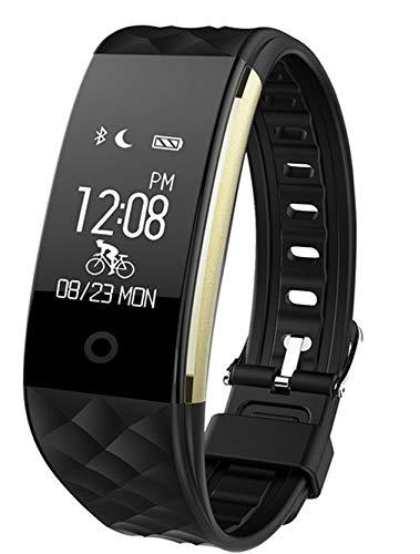 Sport Smartwatch Fitness Braccialetto Intelligente,braccialetto fitness Tracker impermeabile Bluetooth 4.0 OLED touch screen Activity,frequenza cardiaca e monitor di sonno per android e ios jus2,nero