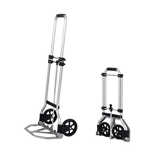 sogesfurniture Carretilla de mano plegable,Saco de aleación de aluminio Camión de mano Carro de carretilla de equipaje portátil con manija telescópica de goma,Capacidad de carga: 60 kg,BHEU-KT-2022M