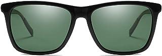 Fashion Black/Blue/Green/Purple/Yellow Men and Women New Driving Driving Sunglasses Fashion Colorful Polarized Metallic Sunglasses Retro (Color : Green)