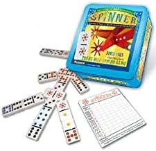 4KIDS Toy / Game Double Dynamic Puremco Spinner - The Classic Game of Wild Dominoes (for Ages 8 Years and up)