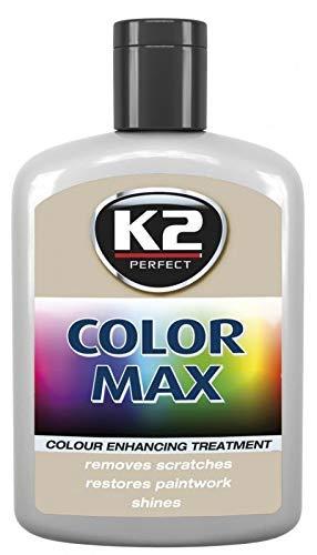 K2 Color Max Farbpolitur Autopolitur Wachspolitur Politur mit Carnauba-Wachs, Gebindegröße:200 ml;Farbe:Grau