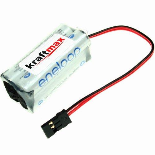 Eneloop AAA Akkupack Kraftmax - Würfel [ F2x2 ] - 4,8 Volt / 800 mAh - passend für Graupner Empfänger