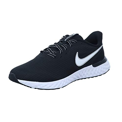 Nike Revol. 5 Extension Größe 44 EU Schwarz (Black/White-DK Smoke)