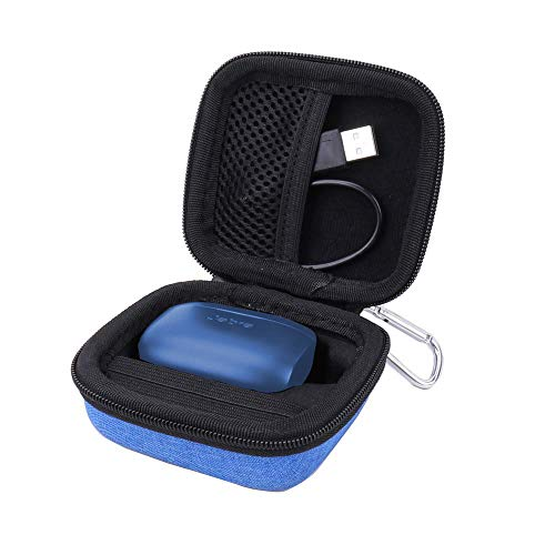 Hard Case for The Jabra Elite 75t/Jabra Elite Active 65t /Jabra Elite 65t True Wireless Earphone/Headphone by Aenllosi (Black)
