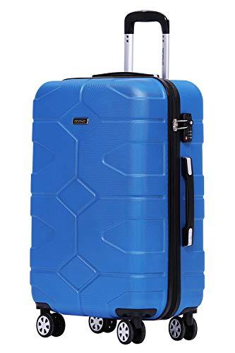 BEIBYE - TSA Schloß 2035 Hartschale Reisekoffer Koffer Handgepäck Trolley (Diamonblau, XL)