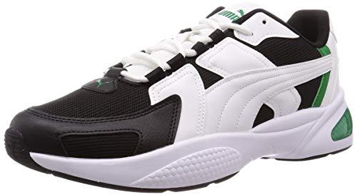 PUMA Ascend, Zapatillas Unisex Adulto, Blanco White Black/Amazon Green 03, 43 EU