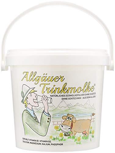Puntzelhof Allgäuer Trinkmolke – 1.500 g Süssmolke Molkepulver, ohne Zusätze, Deutsches Naturprodukt aus bester heimischer Milch im praktischen Vorrats-Eimer