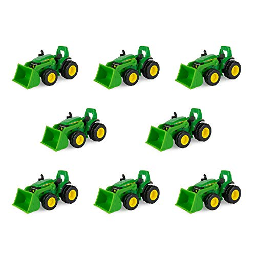 Learn More About TOMY John Deere Mighty Movers Toy Tractor with Loader – 8 Piece Party Pack