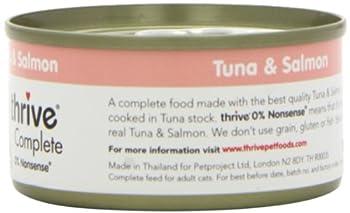 thrive Complete Nourriture avec Thon/Saumon pour Chat 6 x 75 g