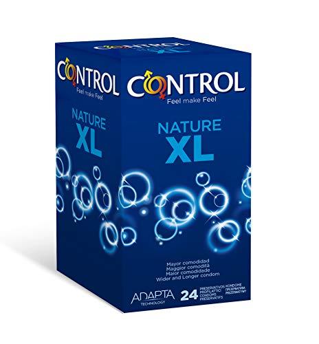 CONTROL Nature XL Kondome, 24 XL-Kondome für extra Komfort, Breite 57 mm