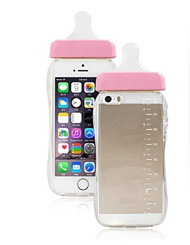 Demarkt Linda Botella de Chupete con Funda de Teléfono con Cordón para iPhone 5 / 5S Funda para Teléfono Móvil Protectora Caso de Plástico Cover Case 1PCS