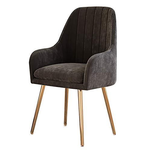 HUAYIN Modern Light Luxury Dining Chair, Leisure Living Room Dressing Chairs | Club Lounge Chair with High Elastic cushion and Backrest for Home Accent Chair,Brown