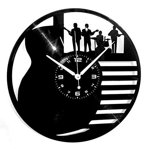 Instant Karma Clocks Wandklok van vinyl voor platen, LP 33 Giri Gitaar accu Bass Musicista gereedschap muziekinstrumenten rock, handmade, vintage