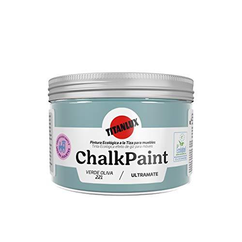 Titan - Chalk Paint Pintura a la Tiza (150 ml, Verde Oliva)