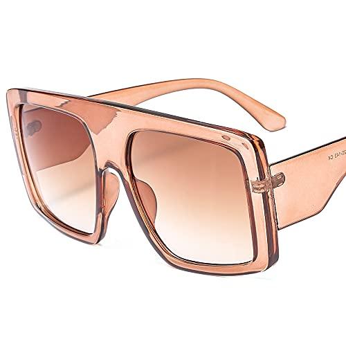 TTWLJJ Gafas de sol para mujer y hombre, diseño vintage, cuadrado, protección UV, gafas de ciclismo, para correr, béisbol, pesca, esquí, golf, beige