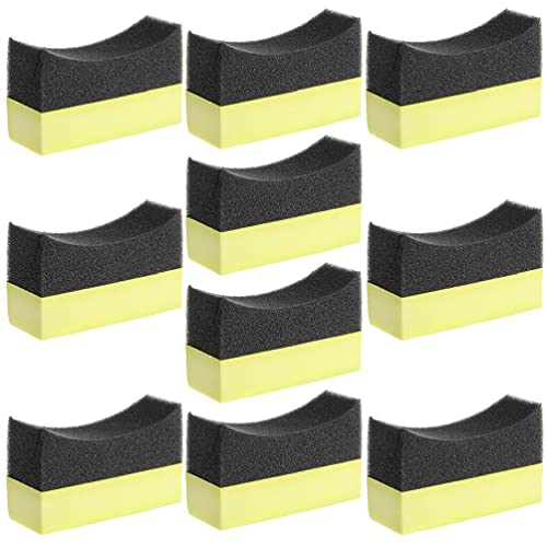 Aplicador profesional para neumáticos de coche, almohadilla de esponja de espuma curvada 1