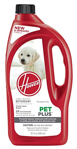 Hoover PetPlus Pet Stain & Odor Remover Solution Formula, 32 oz, AH30325NF
