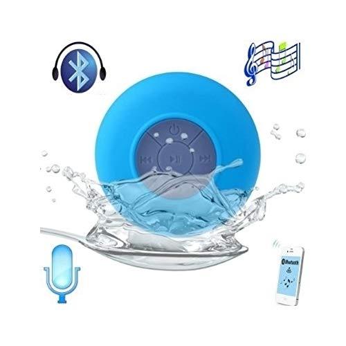 Azul - Mini Altavoz -Impermeable, Inalámbrico, Bluetooth 3.0, Ducha, Piscina, Coche, Manos Libres para iPhone 4/4S, iPhone 5/5S, iPad, iPod y Samsung by DELIAWINTERFEL